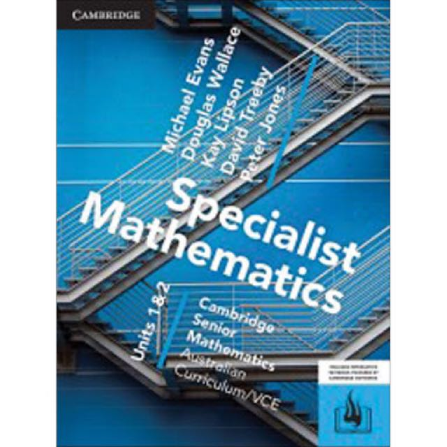 Specialist Mathematics Unit 1 & 2 Pdf Only