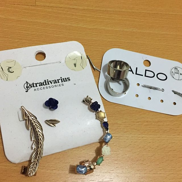 Stradivarius Earrings (+bonus ALDO rings)