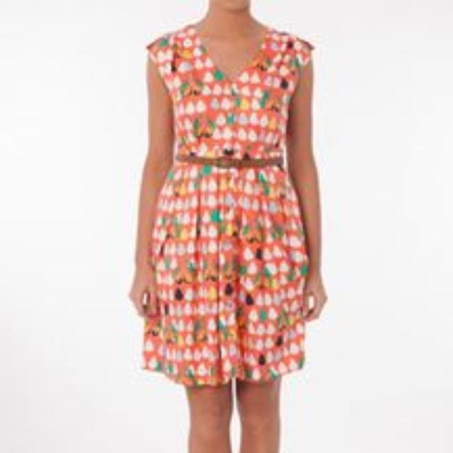 Stunning Hi There by Karen Walker Orange Pear Dress