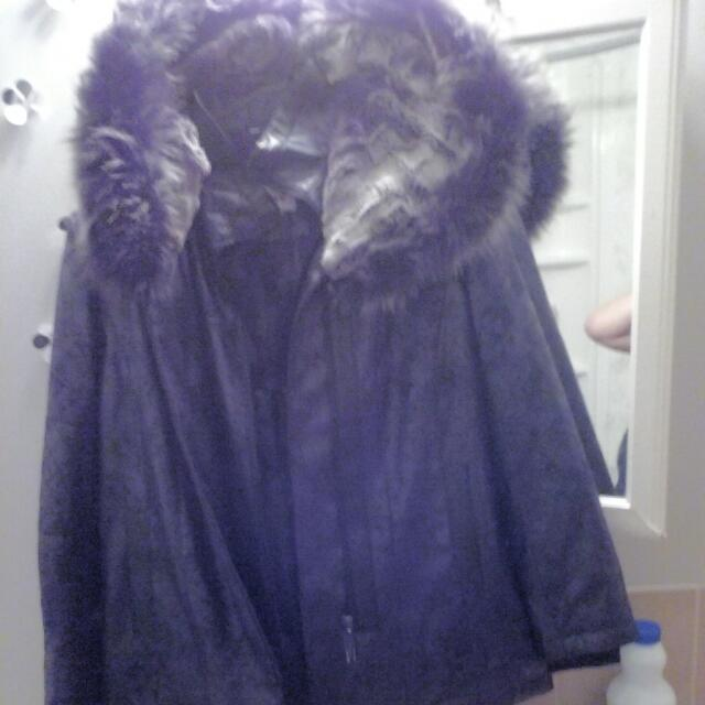 TANJAY-FAUX FUR Lined Winter Coat Brand New Never Worn ...reg Price $290 Asking $80
