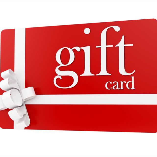 Three Gift Cards