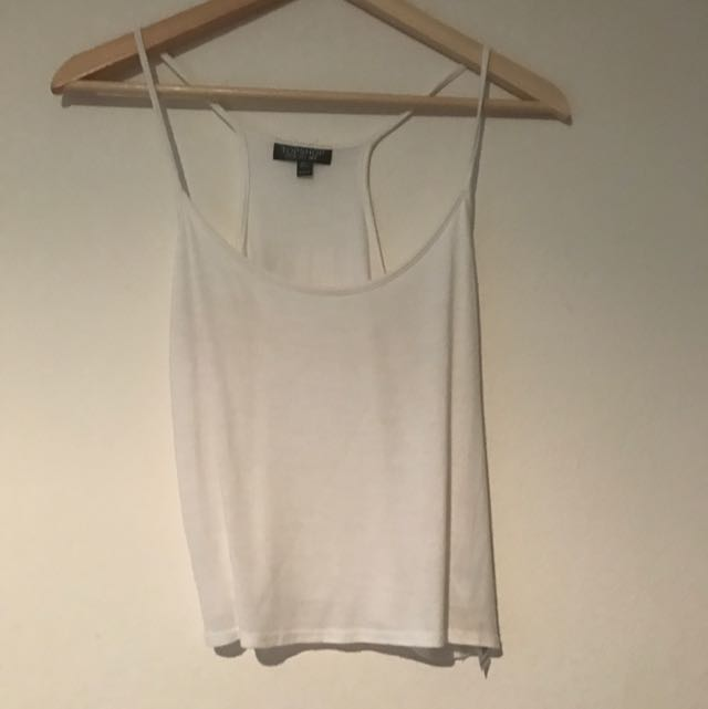 TOPSHOP White Cropped Racer Back
