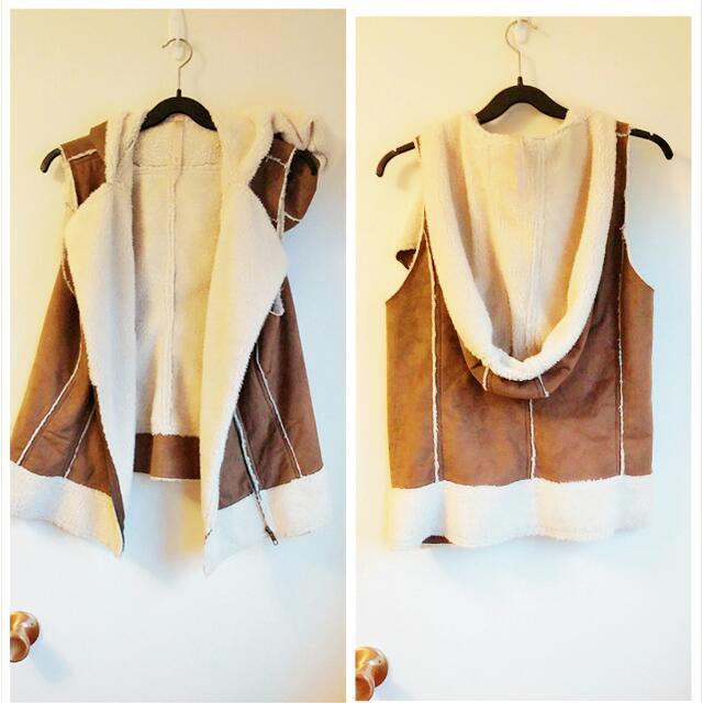 Warm Hooded Vest Size S/M