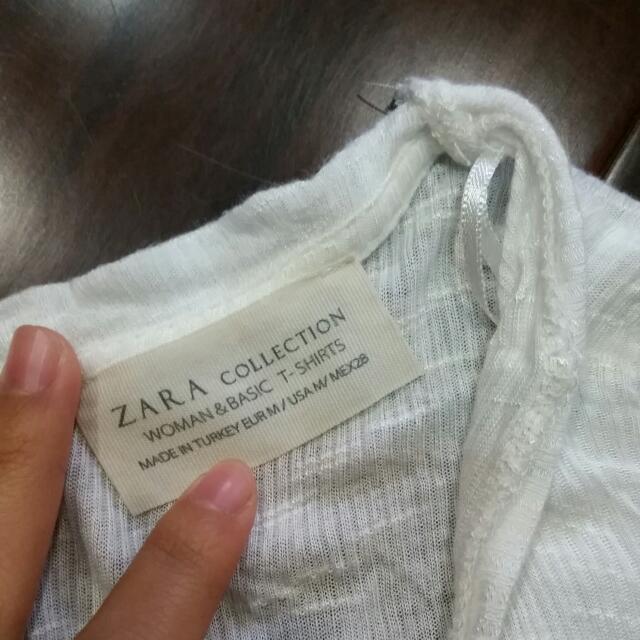 Zara 棉純白外罩衫
