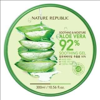 🚚 韓國Nature Republic 92%蘆薈補水保濕凝膠