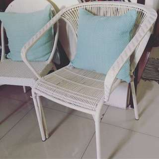 Plastic Rattan Accent Chair