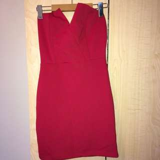 UK2LA Red Dress - S
