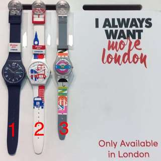 Limited London Swatch Watches - Only Available In London