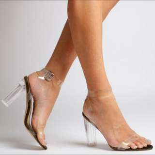 """Clear Strapping """"Ariana"""" Heel From Ego Official"""