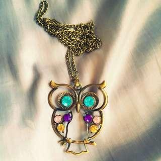 Owl Gemstone Pedant