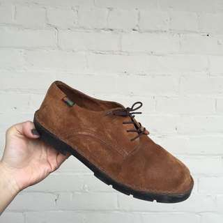 Vintage Suede Oxfords By Hush Puppies, Size 6.5-7