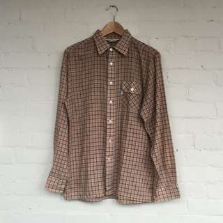 Vintage Levi's Plaid Shirt, Men's Size M Or Women's L