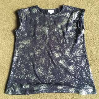 Seed Silver spray paint tee