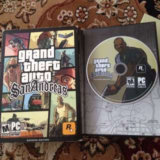 Grand Theft San Andreas CD Game