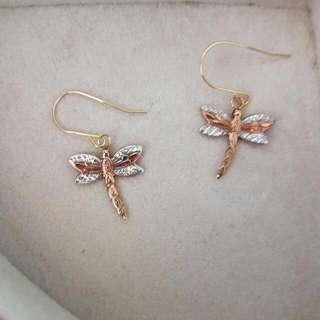 9ct Gold Dragonfly Earrings