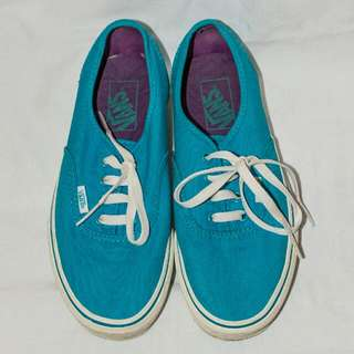 VANS AUTHENTIC turquoise Size 6 Boys/7.5 Womens