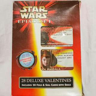 STAR WARS episode I VALENTINE CARDS