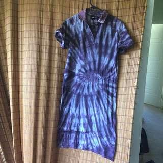 Asos Tie Die Tshirt Dress