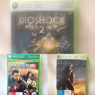 3 Assorted Xbox Games