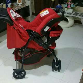 Graco Pram/Stroller With Car Seat