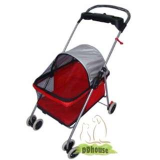[Instock] Red Color Super Light Weight Pet Pram/ Pet Stroller