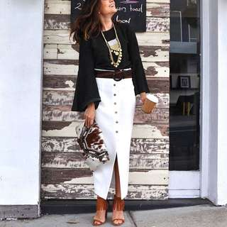 Vintage Vibe Knee Length Skirt