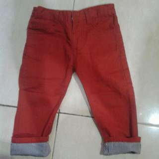 Celana Panjang Anak Zara Merah
