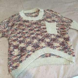 東區購入超保暖針織刷毛毛衣