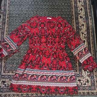 Size 12 Valleygirl Red Dress