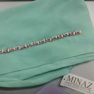 New**Minaz Hijab in Tiffany Blue