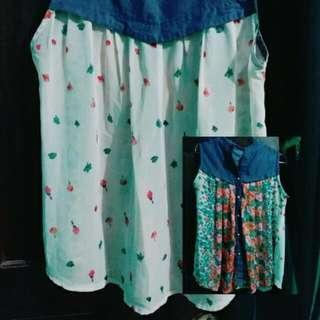 Flower Semi Jeans