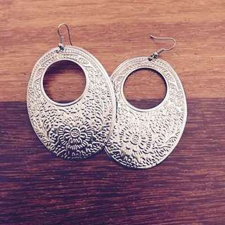 Silver Pattern Earrings