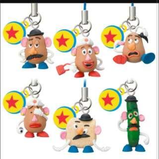 玩具總動員 蛋頭先生 蛋頭太太 吊飾