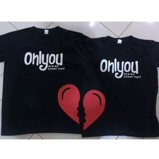 Couple Tee Shirt Personalized/ Customized
