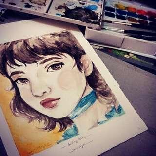 Watercolour Painting (Potrait Only)