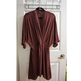 ARITZIA BABATON Silk Dress (Size L)