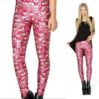 BLACK MILK CLOTHING WE'RE ALL MAD HERE LEGGINGS SIZE SMALL New With Tag!!! Rare Museum piece!!!!