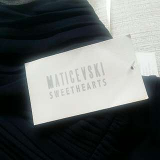 "Maticevski Designer Dress ""Sweetheart"" Collection In Navy"