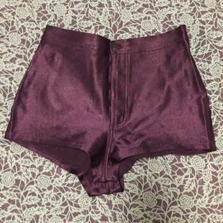 American Apparel Dark Purple Hot Pants