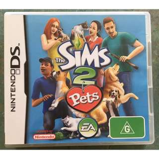 Sims 2 Pets Nintendo DS game