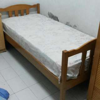Ranjang kayu - Ranjang tingkat (single bed 2x)