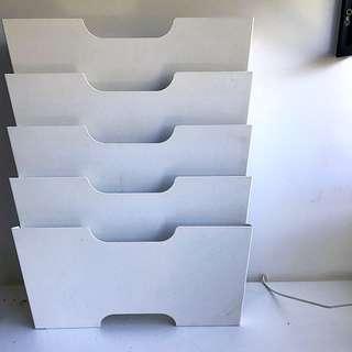 White IKEA Magazine Holder