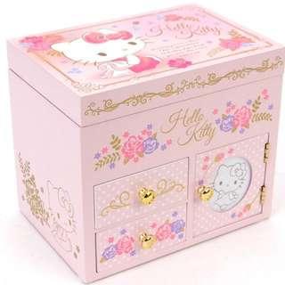 正版 Sanrio Hello Kitty 首飾音樂木盒