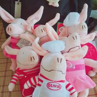 現貨 多款 奧莉薇 萌萌豬 玩偶 娃娃