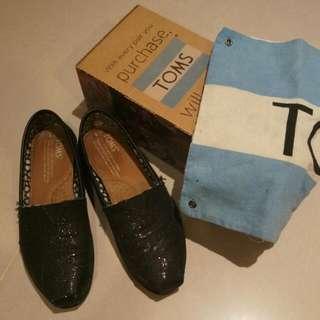 Toms 亮片鞋 黑色