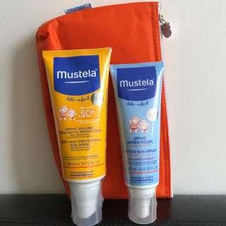 Mustela防曬乳噴裝+曬後潤膚乳
