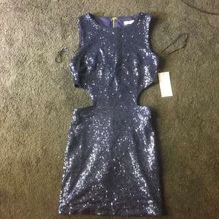 TOBI Sequin Many Dress, Cutout, Small