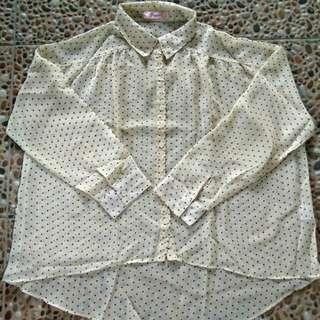 Cream Shirt Batwing