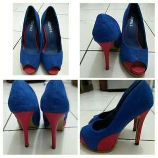Blue Red Heels Size 37-38 Sidewalk