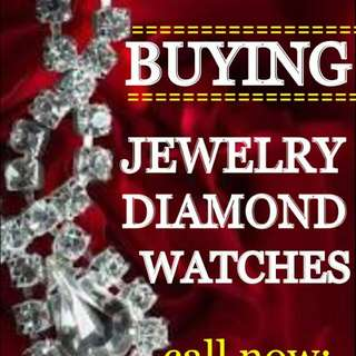 BUYING JEWELRIES, DIAMOND, GOLD, WATCHES